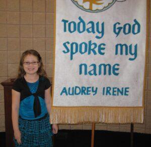 Audrey baptism
