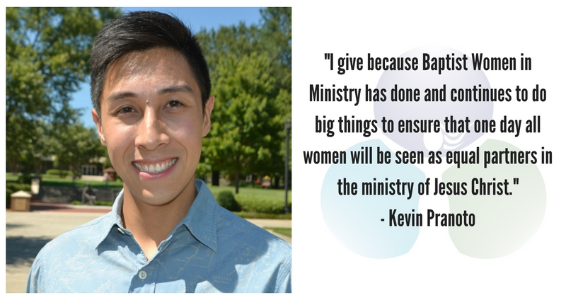 Because Women Are Equal Partners in Ministry by Kevin Pranoto